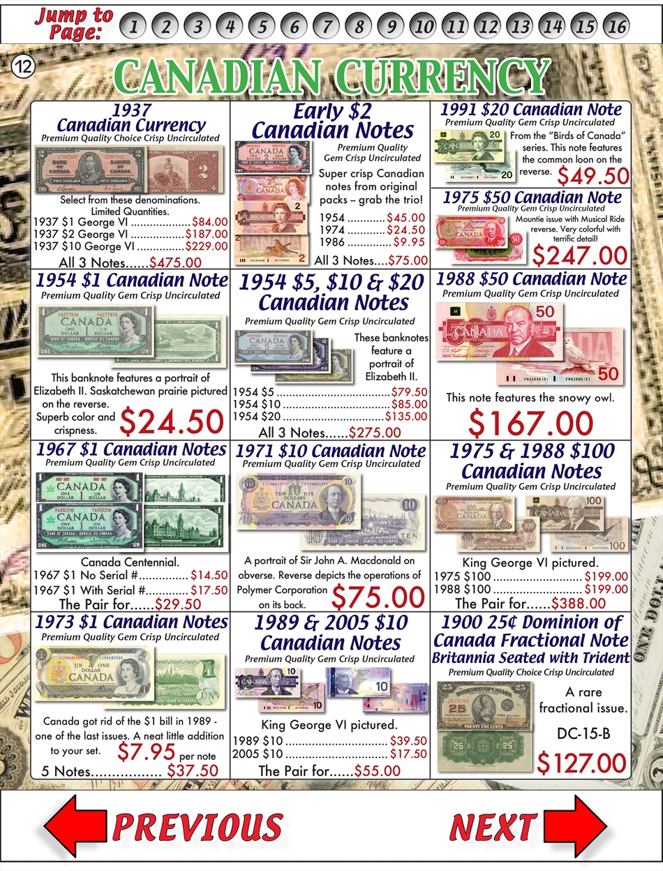 Currency Catalog: 12 of 31 - Buy Collectible Coins Online, Rare US