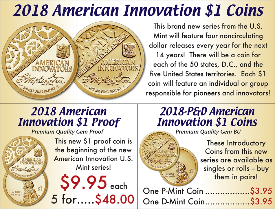 2018 $1 American Innovation Coins | Buy Collectible Coins