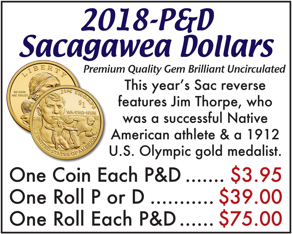 2018-P&D Sacagawea Dollars | Buy Collectible Coins